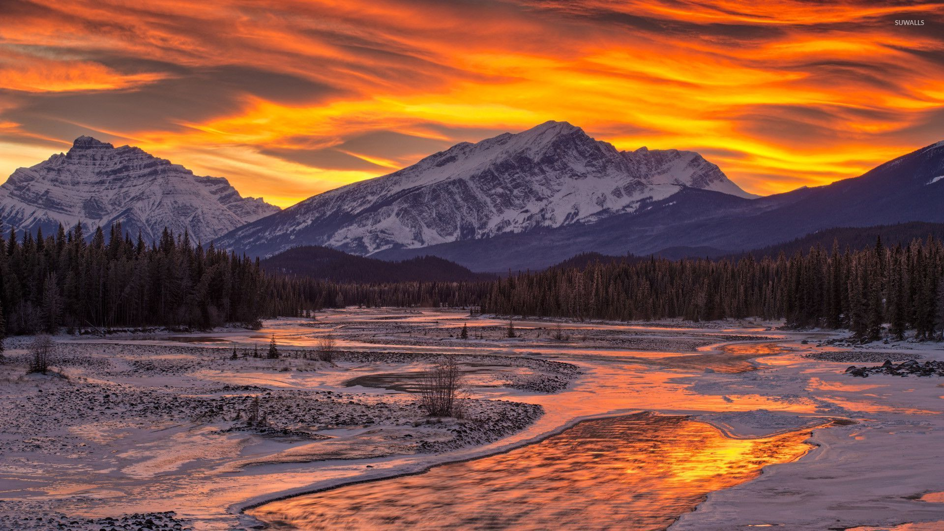 Cool Wallpaper Mountain Winter - winter-sunset-in-the-mountains-28729-1920x1080  Best Photo Reference_651046.jpg