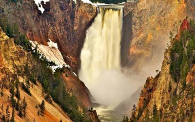 Yellowstone Falls wallpaper
