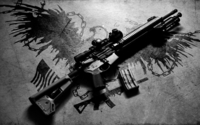 AR-15 rifle on the ground wallpaper 1920x1080 jpg