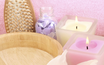 Aromatherapy candles wallpaper