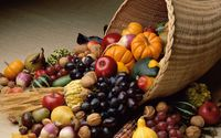 Autumn fruit pouring from cornucopia wallpaper 1920x1200 jpg