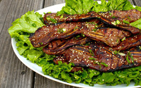 Bacon on lettuce wallpaper 1920x1200 jpg