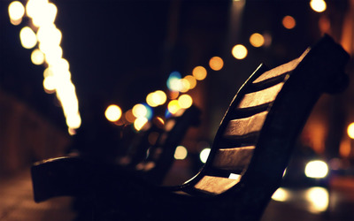 Bench at night wallpaper