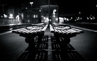 Benches in the train station wallpaper 1920x1200 jpg
