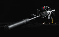 Black rifle with ammo wallpaper 1920x1200 jpg