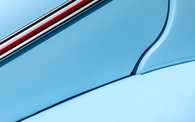 Blue car door wallpaper