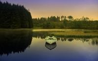 Boat on the lake [4] wallpaper 1920x1200 jpg