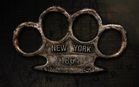 Brass knuckles New York metropolitan police wallpaper 1920x1200 jpg