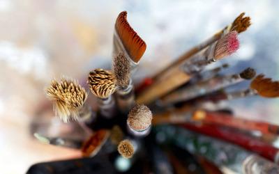 Brushes wallpaper