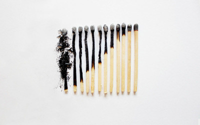 Burned match sticks wallpaper