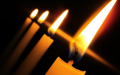 Burning candles wallpaper