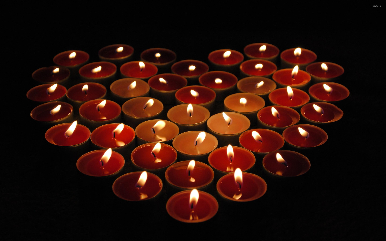 свечи сердца горящие загрузить