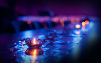 Candles on a table wallpaper 1920x1080 jpg
