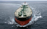 Cargo ship in the ocean wallpaper 2880x1800 jpg