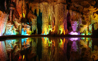 Cave lake reflections wallpaper 1920x1200 jpg
