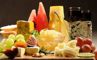 Cheese and fruit wallpaper 2560x1600 jpg