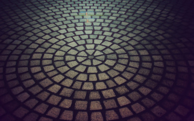 Circular pavement wallpaper