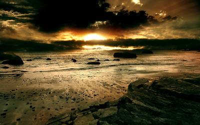 Cloudy sunset wallpaper