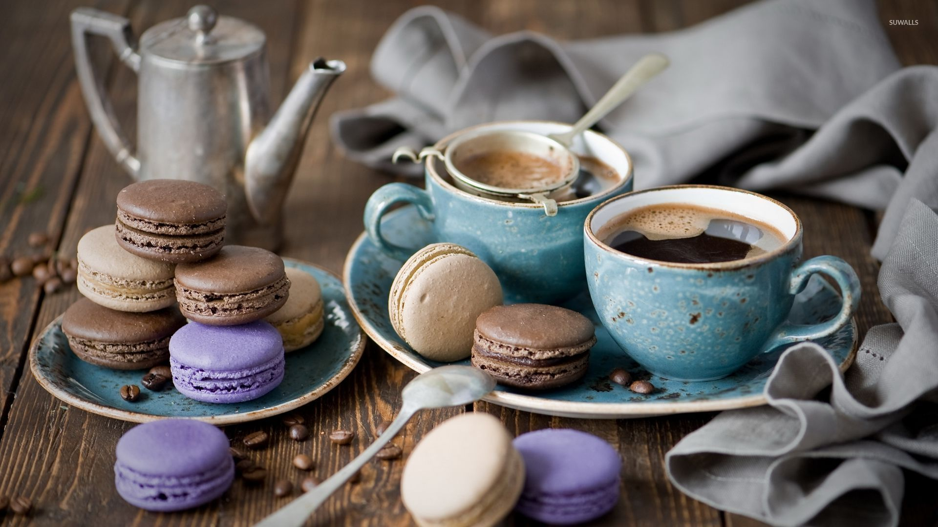 coffee and macarons wallpaper   photography wallpapers