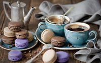 Coffee and macarons wallpaper 1920x1080 jpg