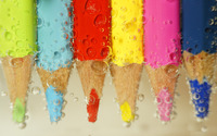 Colored pencils under water wallpaper 2560x1600 jpg