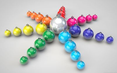 Colorful christmas balls wallpaper