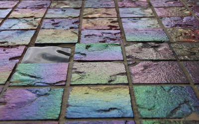 Colorful pavers wallpaper