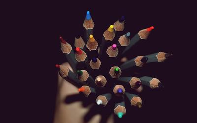 Colorful pencils [2] wallpaper