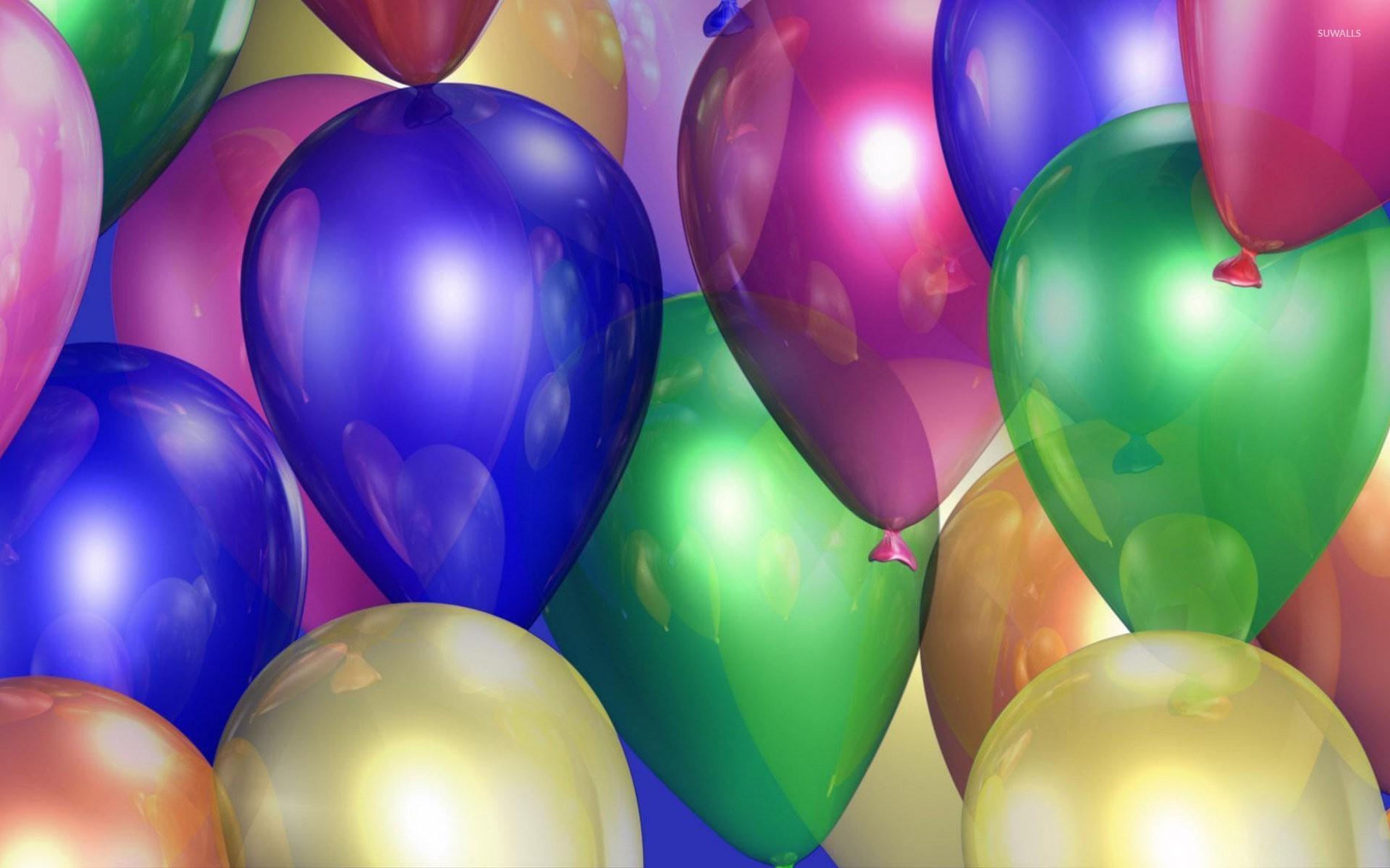 Colorful shiny balloons wallpaper