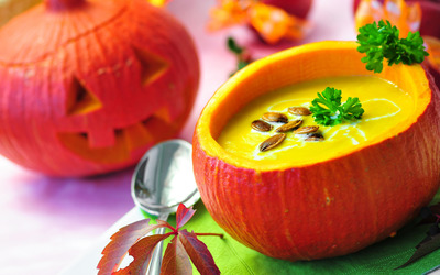 Creamy pumpkin soup wallpaper