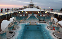 Cruise ship pool wallpaper 3840x2160 jpg