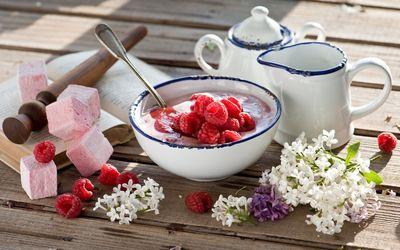 Dessert and tea Wallpaper