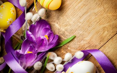 Easter decor wallpaper