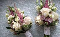 Elegant small bridal bouquets wallpaper 1920x1200 jpg