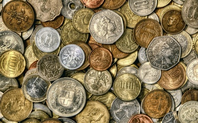 European coins wallpaper