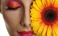 Eye makeup looking like the flower wallpaper 1920x1200 jpg