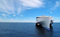 Ferry on the sea wallpaper 2560x1600 jpg