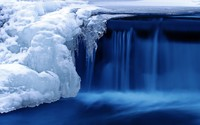 Frozen waterfall wallpaper 2560x1600 jpg