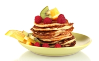 Fruits with pancakes wallpaper 2560x1600 jpg
