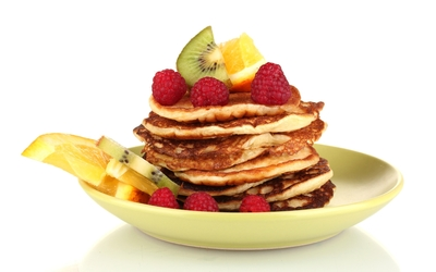 Fruits with pancakes wallpaper