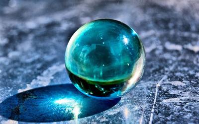 Glass sphere Wallpaper