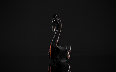 Glass swan [2] Wallpaper