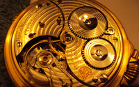 Gold watch mechanism wallpaper 1920x1200 jpg