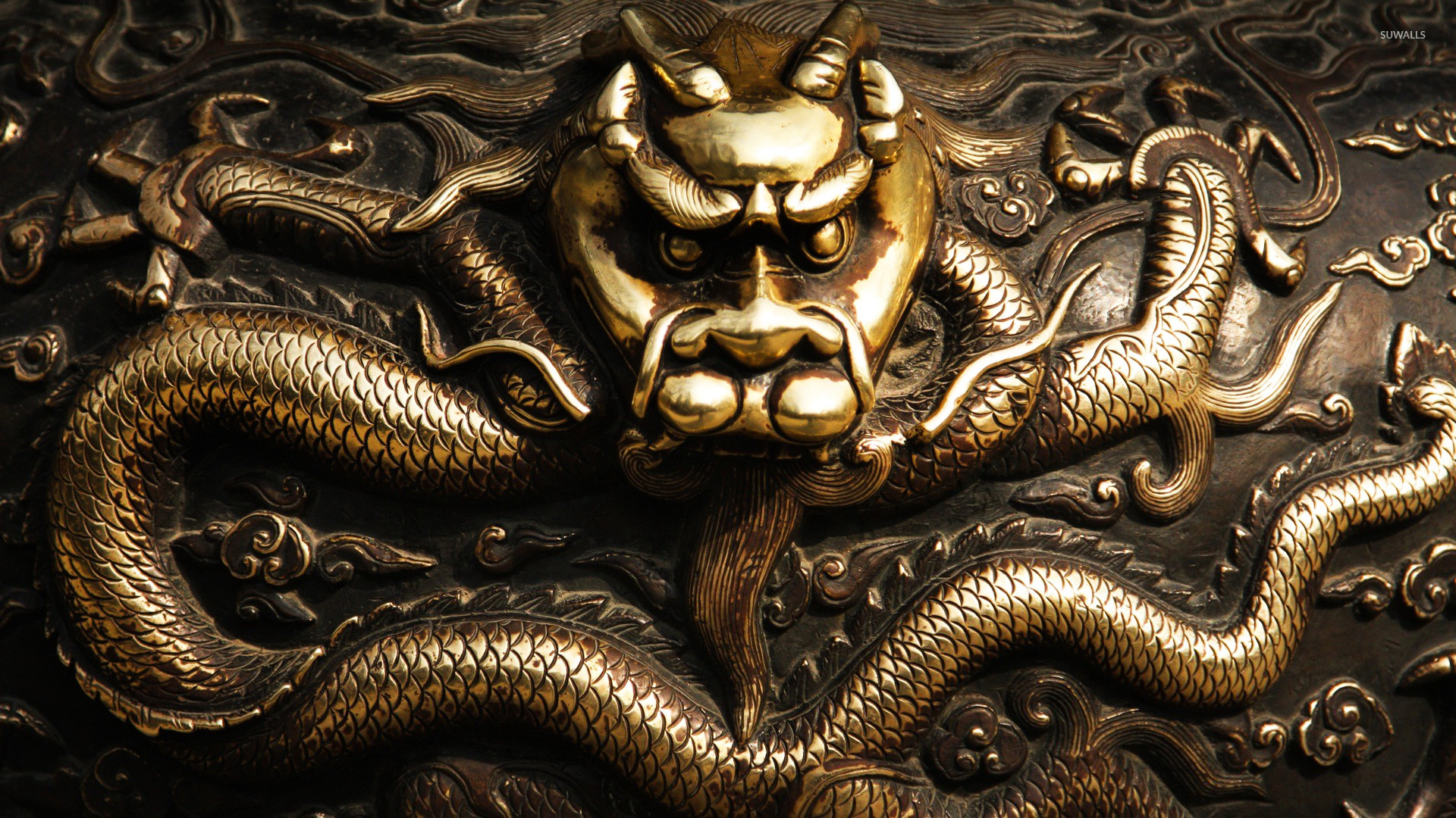 gold dragons wallpaper - photo #25