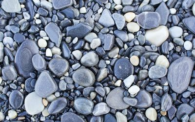 Gray pebbles wallpaper