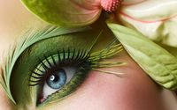 Green makeup on the eye wallpaper 1920x1200 jpg