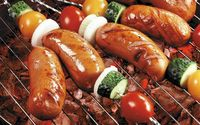 Grilled sausages wallpaper 2560x1600 jpg