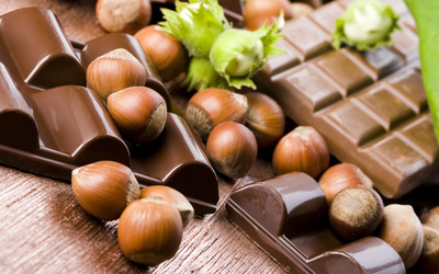 Hazelnuts and Chocolate wallpaper