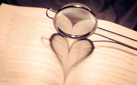 Heart shadow on a book wallpaper 1920x1200 jpg