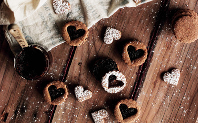 Heart shaped cookies Wallpaper